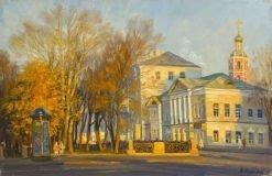 Картина художника Нестерова Василия Евгеньевича Пушкинская площадь