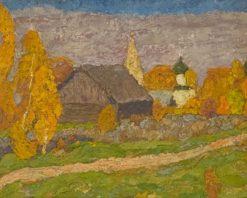 картина художника Владимира Юкина «Осень в Любце»