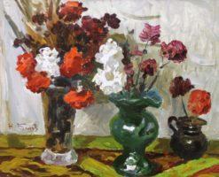 картина №162. Н.Беляев Цветы 50х60 к.м. 1970г.