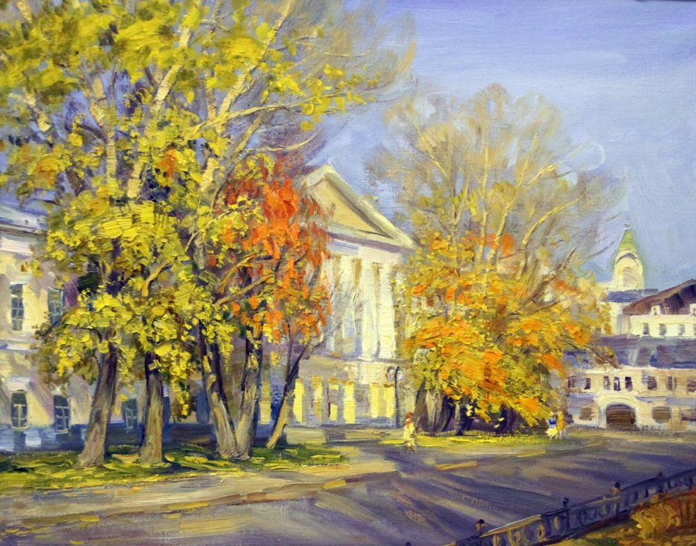 картина №310 В.Нестеров Страстной бульвар 40х50 х.м. 2011г.