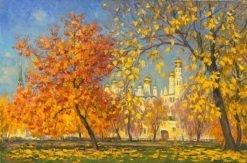 картина художника Василий Нестеров - Осень на Болотной 2018