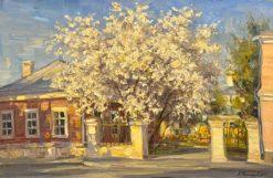 картина художника Василий Нестеров Весна в Замоскворечье
