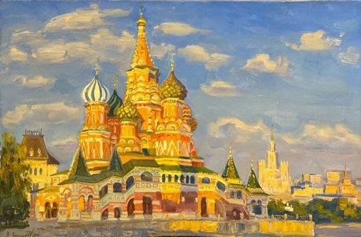 картина художника Василия Нестеров Покровский собор
