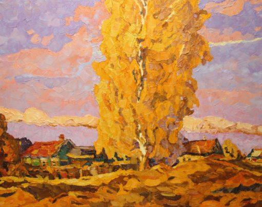 картина Д.Холин Осенний вечерок 80х100 х.м. 2017г.