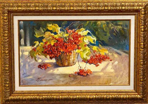 Картина художника Михаила Калинин Калина красная в раме