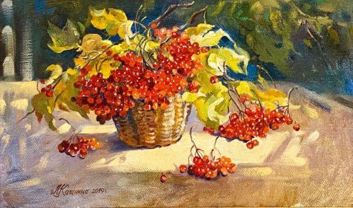 Картина художника Михаила Калинин Калина красная