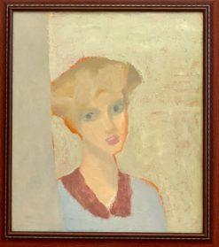 картина художника Виктор Дынников «Лиза» в раме