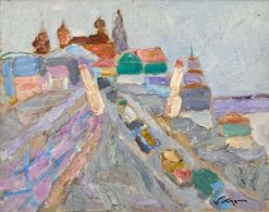 картина художника Валерий Кокурин Весна в Касимове