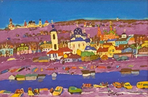 картина художника Валерий Кокурин Старый город