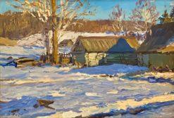 картина художника Никита Пичугин Зимнее солнце