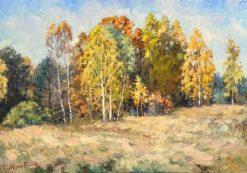 Картина художника Сергея Жукова Тёплый октябрь